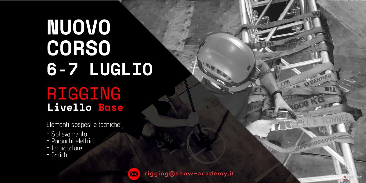 Corso Rigging Base - Elementi sospesi e tecniche